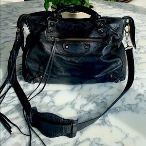 Balenciaga Classic Leather City Bag in Black